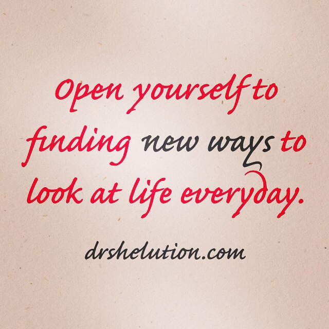 Open yourself