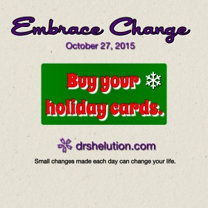 Embrace Change - Buy your holiday cards