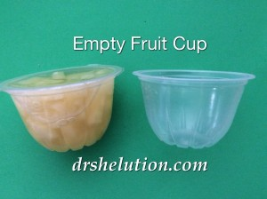 Empty Fruit Cup