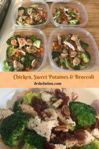 Chicken, Sweet Potatoes and Broccoli