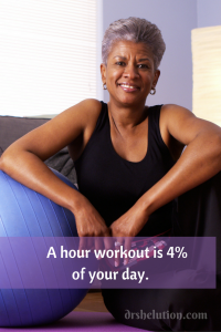 A hour workout is 4% of your day.