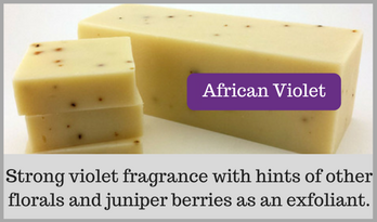 Homemade African Violet Soap
